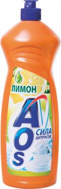 Ср-во д/мытья посуды АОС с Лимоном 0,9л/12