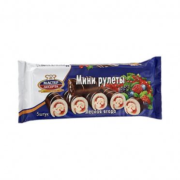 Мини-рулет РКК Мастер Десерта ягод.сбор шоколад 175г/15