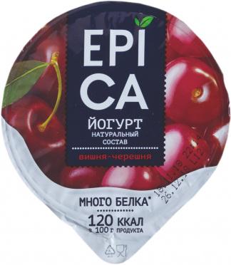 Йогурт EPICA 4,8% Вишня и черешня 130г пл/ст/12