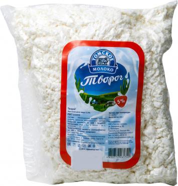 Творог Томское молоко 5% 500г пакет/1/БЗМЖ