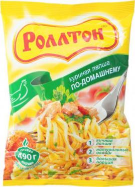 Лапша б/п РОЛЛТОН Курица 85г брикет/40