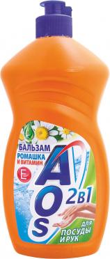 Ср-во д/мытья посуды АОС Бальзам Ромашка + Витамин Е 500мл (450мл)/20