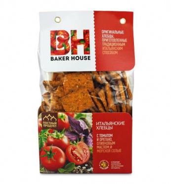 Итальянские хлебцы Baker House томат орегано морск соль 250г/7