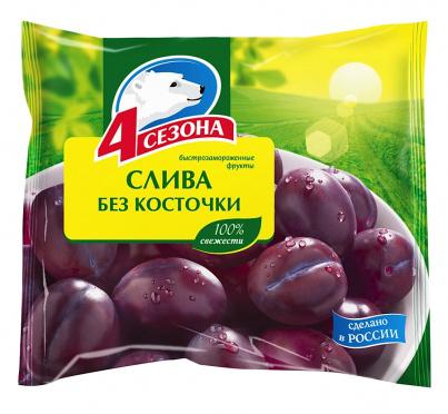 Слива без косточки замороженная 300г/пакет/20/4 сезона