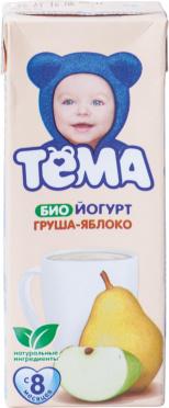 Биойогурт Тема питьевой 2,8% Яблоко-Груша 210г т/п/6/БЗМЖ