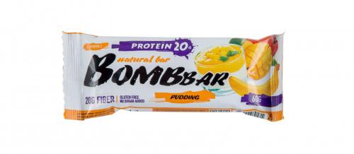 Батончик BOMBBAR Банановый пудинг с манго протеиновый 60г/20