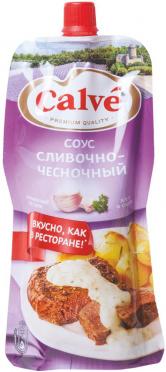 Соус КАЛЬВЕ 230-250мл д/мяса Сливочно-чесночный дой/пак/28