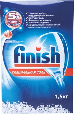 Ср-во д/посудомоеч машин FINISH соль 1,5кг/12