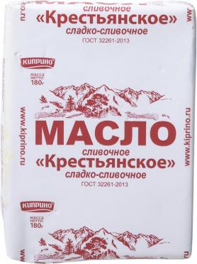 Масло Киприно Крестьянское 72,5% 180г пергамент/60/БЗМЖ