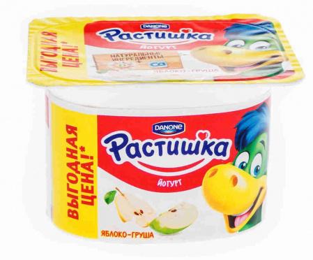 Йогурт Растишка 3% Яблоко груша 110г пл/ст/12/БЗМЖ