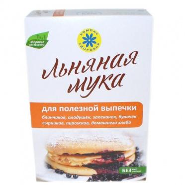 Мука льняная Для полезной выпечки 300г/18/Компас здоровья