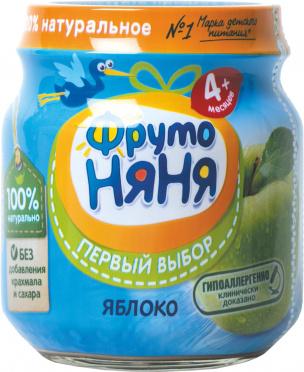 Пюре Фрутоняня 100г яблоко натуральное ст/б/12