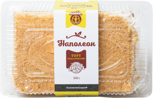 Торт Лама Наполеон 0,55кг коррекс