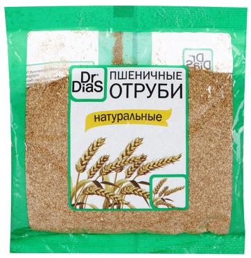 Отруби Сибирские диетические (пшеничные) 200г/20