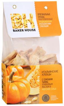 Итальянские хлебцы Baker House сем тыквы олив масло морск соль 250г/7