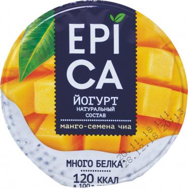 Йогурт EPICA 5% Манго и семена чиа 130г пл/уп/12/БЗМЖ