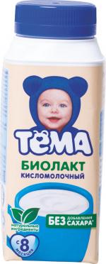 Биолакт Детский Тема без сахара 3,4% 206г т/п/12/БЗМЖ