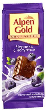 Шоколад Альпен голд черника с йогуртом 80-90г/21