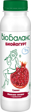 Биойогурт Био-Баланс Гранат 1% 270г пл/бут/6/БЗМЖ