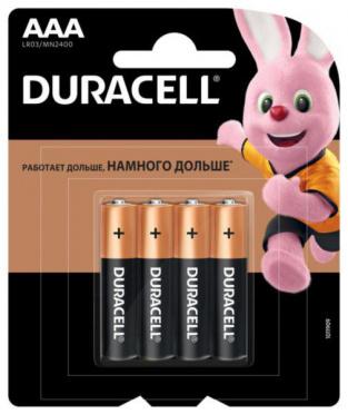 Батарейка DURACELL Basic AAА 4шт на бл/12
