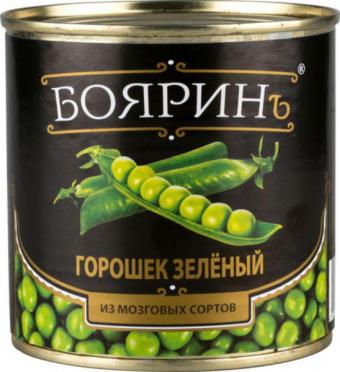 Зеленый горошек БОЯРИНЪ 425мл из мозговых сортов ГОСТ ж/б/12