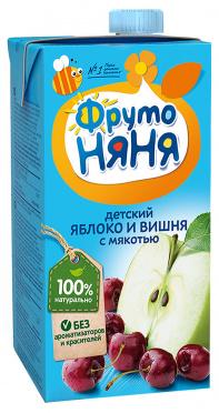 Сок Фрутоняня 0,5л яблоко вишня осветленный т/п/25