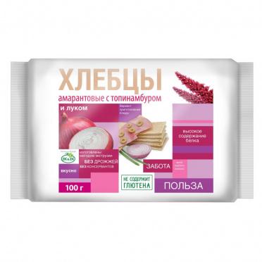 Хлебцы амарантовые с топинамбуром и луком 100г/12/Ешь ЗдорОво