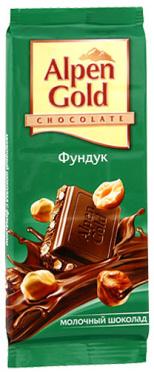 Шоколад Альпен голд орех 80-90г/21
