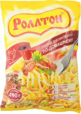 Лапша б/п РОЛЛТОН Говядина 85г брикет/40