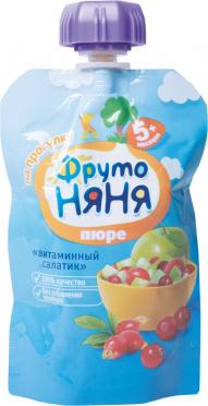 Пюре Фрутоняня 90г витаминный салатик гуала-пак/12