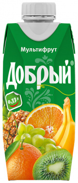 Нектар ДОБРЫЙ 0,33л Смесь фруктов пэт/24