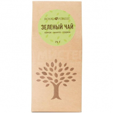 Чай зеленый кэроб, манго, годжи 75гр/16