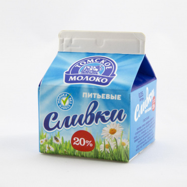 Сливки Томское молоко 20% 250мл т/п/8/БЗМЖ