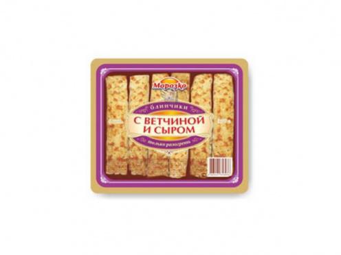Блинчики Морозко с ветчиной и сыром 210г/пакет/28
