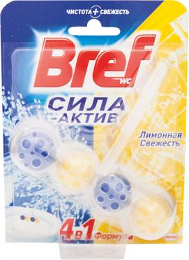 Блок д/унитаза БРЕФ Сила актив шарик Лимон.Свежесть 50гр/10