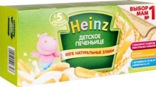 Печенье детское Хайнц 160г карт/уп/24/БЗМЖ