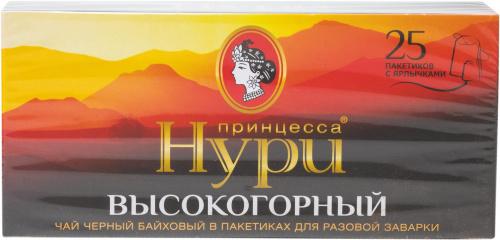 Чай ПРИНЦЕССА НУРИ Высокогорный черный 25*2г пакет с/я/18