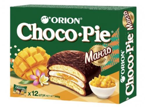 Чоко пай Орион Манго 12шт в коробке 360г/8