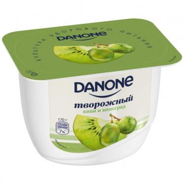 Десерт творожный Данон 3,6% Киви виноград 170г пл/уп/8/БЗМЖ