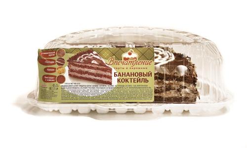 Торт Банановый коктейль 1/2, вес/СПС