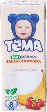 Биойогурт Тема питьевой 2,8% Банан-Земляника 210г т/п/6/БЗМЖ