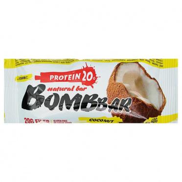 Батончик BOMBBAR Кокос протеиновый 60г/20