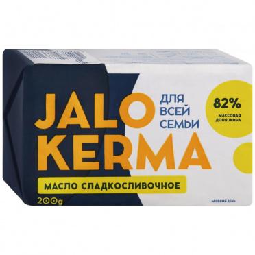 Масло Jalo Kerma сладкосливочное 82% 200г/12/БЗМЖ
