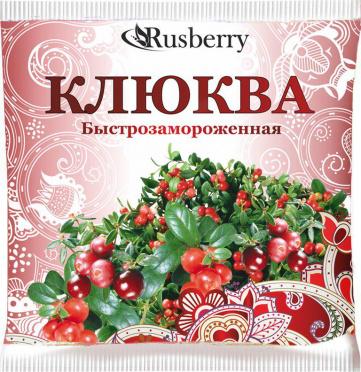 Клюква свежемороженая 300г/пакет/10/Русберри Лайн