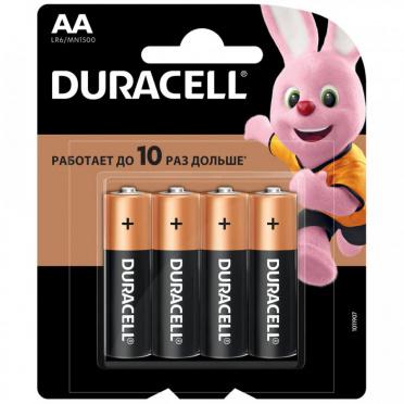 Батарейка DURACELL Basic AA 4шт на бл/12
