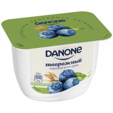 Десерт творожный Данон 3,6% Черника-Овес 170г пл/уп/8/БЗМЖ