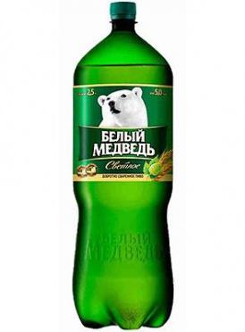 """Пиво """"ЭФЕС РУС.Белый медведь"""" пэт светлое /6"""