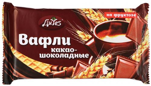 Вафли ДиYes какао-шоколадные на фруктозе 90г/30