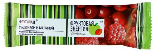 Батончик фруктовый Фрутилад с клюквой и малиной 30г/24