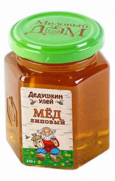 Мед ДЕДУШКИН УЛЕЙ 250г Липовый ст/б/12